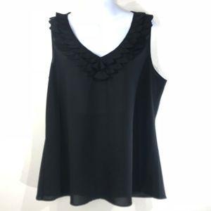 Spense Women's Black Sleeveless Tank Size XL